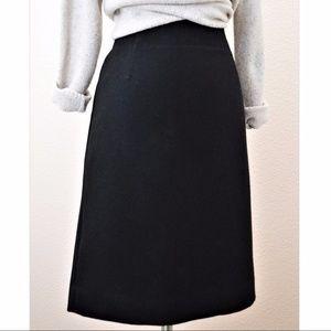J. CREW Wool Pencil Skirt Black Office Work Career
